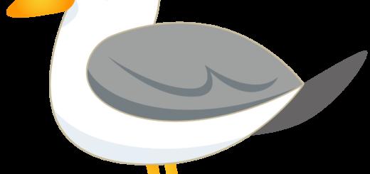 商用フリー・無料イラスト_カモメのイラスト_Seagull Illustration002