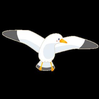 商用フリー・無料イラスト_カモメのイラスト_Seagull Illustration003