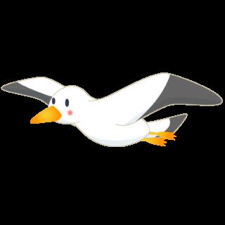 商用フリー・無料イラスト_カモメのイラスト_Seagull Illustration004