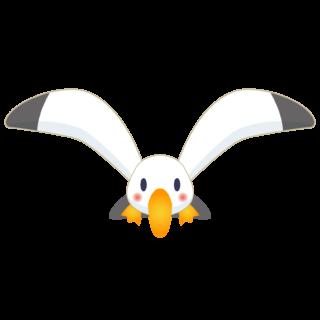 商用フリー・無料イラスト_カモメのイラスト_Seagull Illustration005