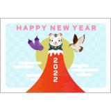 商用フリー・無料イラスト_寅年年賀状(2022・令和寅年4年)横位置_NengajoToradoshiYoko010