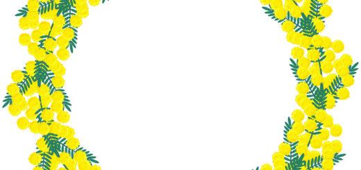 商用フリー・無料イラスト_ミモザのリースのイラスト_MimosaIllustration004