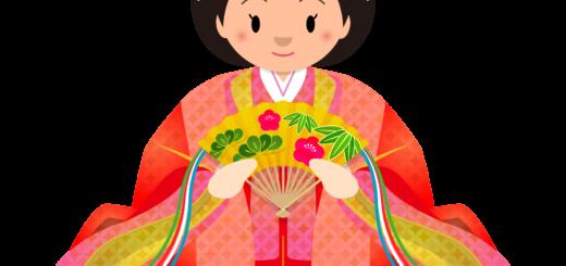 商用フリー・無料イラスト_ひな祭りイラスト_女雛_hinamatsuri001