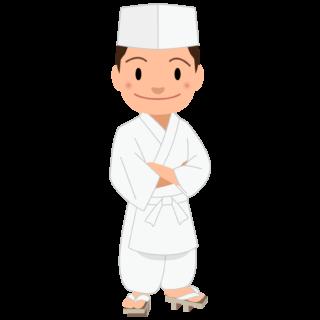 商用フリー・無料イラスト_若い男性料理人のイラスト_Japanese cook001