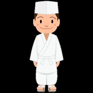 商用フリー・無料イラスト_若い男性料理人のイラスト_Japanese cook002