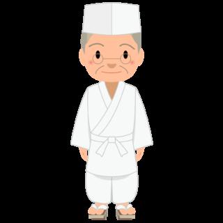 商用フリー・無料イラスト_ベテラン男性料理人のイラスト_Japanese cook003