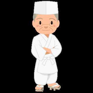 商用フリー・無料イラスト_ベテラン男性料理人のイラスト_Japanese cook004