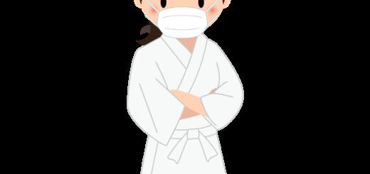 商用フリー・無料イラスト_マスクをした若い女性料理人(調理師)のイラスト_Japanese cook011