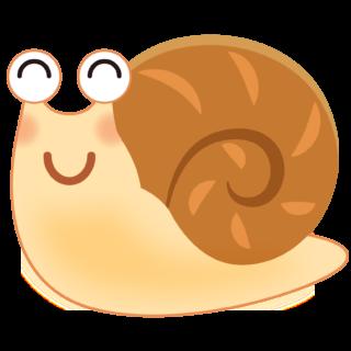 商用フリー・無料イラスト_かたつむり(蝸牛・でんでんむし)のイラスト_Snaili llustration002