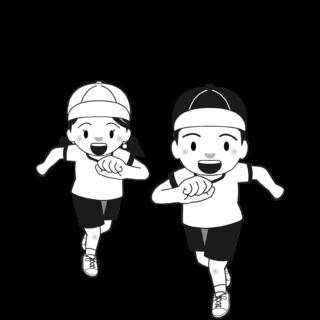 商用フリー・無料イラスト_体育の日(スポーツの日)のイラスト_白黒モノクロ_taiikunohi015