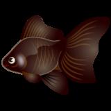 商用フリー・無料イラスト_黒い金魚のイラスト(琉金・リュウキン)_kingyo_Goldfish003