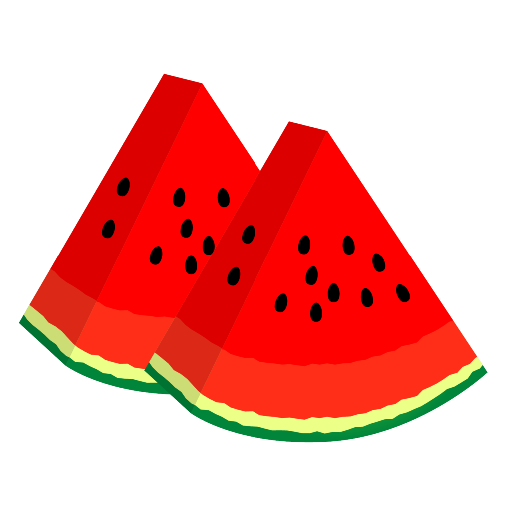 商用フリー・無料イラスト_カットスイカのイラスト_watermelon003