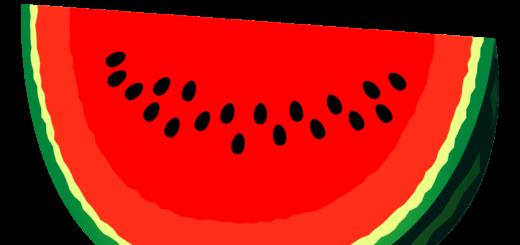商用フリー・無料イラスト_カットスイカのイラスト_watermelon004