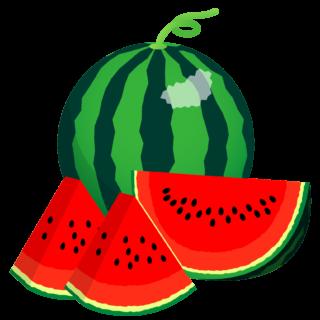 商用フリー・無料イラスト_カットスイカのイラスト_watermelon005