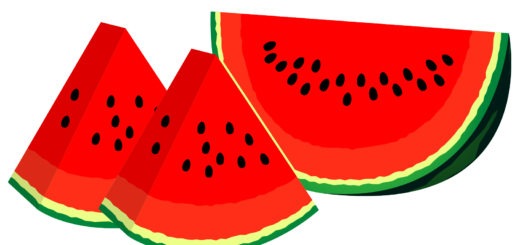 商用フリー・無料イラスト_カットスイカのイラスト_watermelon006