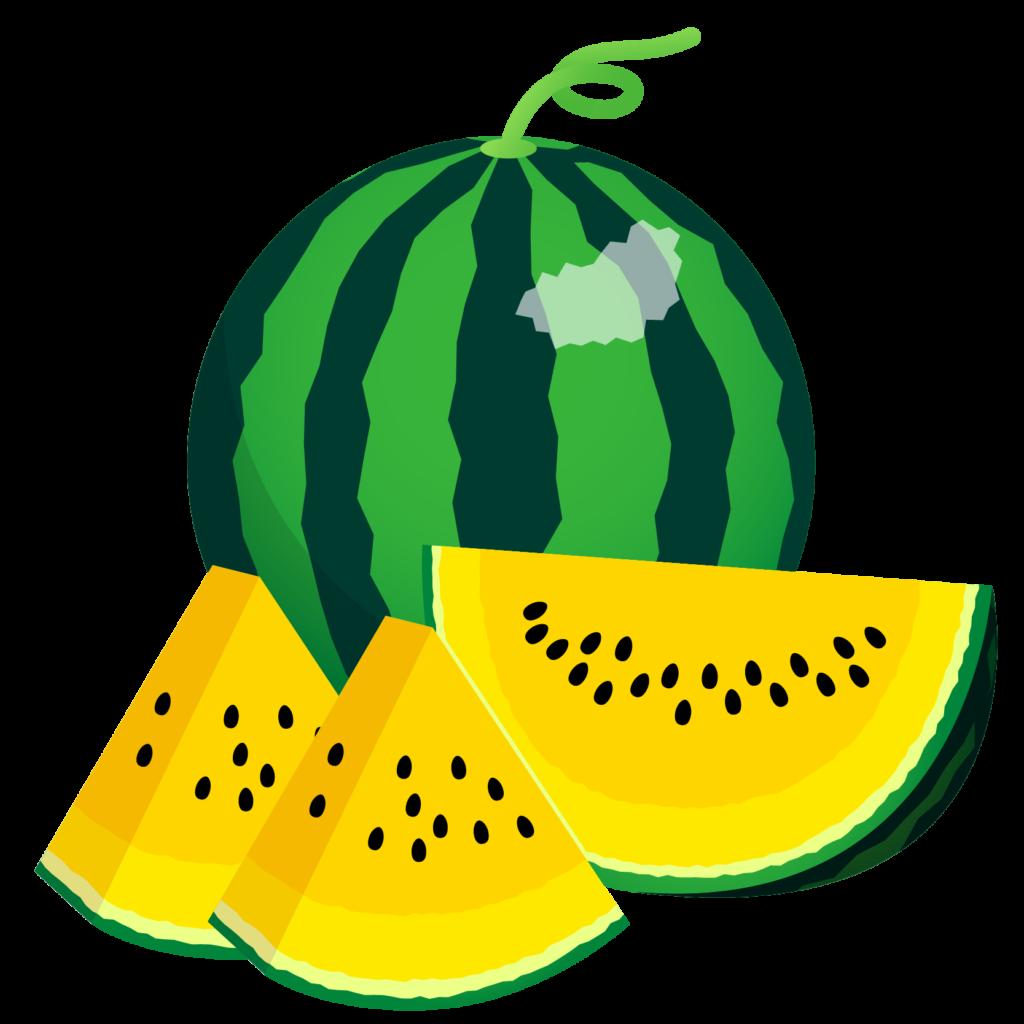 商用フリー・無料イラスト_カットスイカのイラスト_watermelon010