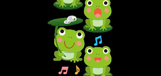 商用フリー・無料イラスト_かえるの合唱のイラスト_frog012
