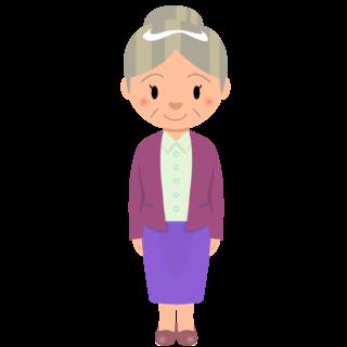 商用フリー・無料イラスト_おばあちゃんのイラスト_grandmother001