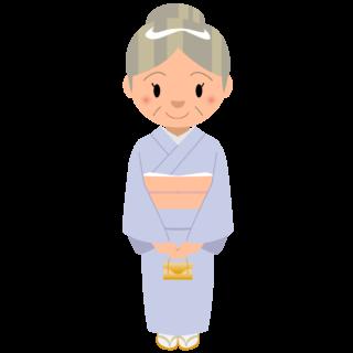 商用フリー・無料イラスト_おばあちゃんのイラスト_grandmother004